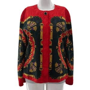 Adrianna Papell 14 VINTAGE Red Chain Top
